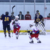 Winnacunnet Warriors Hockey vs Bow High School at Wednesday's NHIAA DIV II Ice Hockey game at The Rinks at Exeter on 2-17-2016. WHS-1, BHS-6. Matt Parker Photos