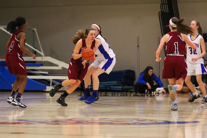 Winnacunnet Warriors Girls Freshman Basketball vs The Crimson Tide of Concord High School on Thursday, 2-18-2016 @ WHS.  WHS-22, CHS-24.  Matt Parker Photos