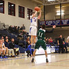 Winnacunnet's #5 Zach Waterhouse elevates over Central's #11 Sethe Shea as he shoots a 3-pointer during Friday's NHIAA DIV I Boys Basketball game between Winnacunnet and Central High Schools on 2-26-2016 @ WHS.  Matt Parker Photos