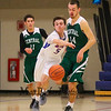 Winnacunnet's #5 Zach Waterhouse steals the ball from Central's #14 Evan MacDonald late in the 4th quarter at Friday's NHIAA DIV I Boys Basketball game between Winnacunnet and Central High Schools on 2-26-2016 @ WHS.  Matt Parker Photos
