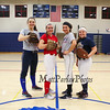 Winnacunnet Softball team Captains (L to R) Casey Maggori, Bailey Faulkingham, Chanel Welch and Kristen Mackenzie pose for a photo after practice on Wednesday 3-23-2016 @ WHS.  Matt Parker Photos