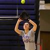 Winnacunnet Senior Casey Maggori tracks a flyball during softball practice on Wednesday  3-23-2016 @ WHS.  Matt Parker Photos