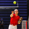 Winnacunnet's Bailey Faulkingham makes a throw during softball practice on Wednesday  3-23-2016 @ WHS.  Matt Parker Photos