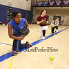 Winnacunnet Freshman Lidet O'Connor works on her ground ball skills at Wednesday's practice in the gym on 3-23-2016 @ WHS.  Matt Parker Photos