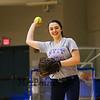Winnacunnet Senior Casey Maggori makes a throw during softball practice on Wednesday  3-23-2016 @ WHS.  Matt Parker Photos
