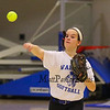 Winnacunnet's Anna Cady throws the ball during softball practice on Wednesday  3-23-2016 @ WHS.  Matt Parker Photos