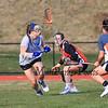 Winnacunnet Warriors Girls Lacrosse preseason scrimmage vs Woburn Memorial DIV I High School on Wednesday 3-30-2016 @ WHS.  Matt Parker Photos