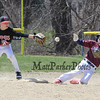 Rattlers runner slides into second beating the throw to Mud Cats 2nd baseman at the Hampton Youth Association Cal Ripken Opening Day celebration and baseball games on Saturday 4-16-2016 @ Tuck Field Hampton, NH.  Matt Parker Photos