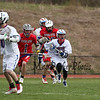 Winnacunnet Warriors Boys Lacrosse vs the Bobcats of Oyster River High School at Monday's NHIAA DIV II Boys Lacrosse Home Opener on 4-18-2016 @ WHS.  Matt Parker Photos