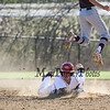 Winnacunnet's #3 John Ferrelli slides back to the bag while Timberlane's #4 Connor Schott jumps for the  throw during Wednesday's NHIAA DIV I Boys Baseball game between Winnacunnet and Timberlane High Schools on 5-11-2016.  Matt Parker Photos