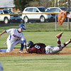 Winnacunnet's Short Stop #10 Griffin O'Brien tags out Timberlane's #6 Austin Hall as he goes head first into 2nd base during Wednesday's NHIAA DIV I Boys Baseball game between Winnacunnet and Timberlane High Schools on 5-11-2016.  Matt Parker Photos