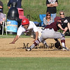 Winnacunnet's #20 Nate Estabrook dives safely into 2nd with Timberlane's #1 Christian Allaire trying to make a play during Wednesday's NHIAA DIV I Boys Baseball game between Winnacunnet and Timberlane High Schools on 5-11-2016.  Matt Parker Photos