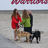 Girls with Dogs at thre Winnacunnet Warriors Boys Lacrosse vs the Clippers of Portsmouth High School on Friday 5-13-2016 @ WHS.  WHS-9, PHS-10.  Matt Parker Photos