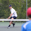 York's #3 Singles player James Peter rushes the net to return a shot by Kennebunk's Jared Allen during Monday's Boys Tennis match between York and Kennebunk High Schools on 5-23-2016 @ YHS.  Matt Parker Photos