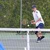 York's #3 Singles player James Peter lines up the ball for a backhand shot vs Kennebunk's Jared Allen during Monday's Boys Tennis match between York and Kennebunk High Schools on 5-23-2016 @ YHS.  Matt Parker Photos