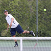 York's #3 Singles player James Peter vs Kennebunk's Jared Allen during Monday's Boys Tennis match between York and Kennebunk High Schools on 5-23-2016 @ YHS.  Matt Parker Photos
