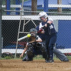 Hurricanes #16 Stephanie Reed of Hampton connects with the ball for a hit  during Sunday's Brawl at the Beach U14 Girls Softball Tournament between the Northeast Hurricanes Seacoast Elite (7) vs Capital Mainiacs (2) during Quarter Final play on 7-10-2016 @ WHS.  Matt Parker Photos