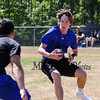 Winnacunnet's Evan Welch looks to evade a Bedford Mass player during Saturday's 7v7 Under Armour Football Tournament vs Bedford MA on 7-16-2016 @ Exeter High School.  Matt Parker Photos