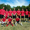 Portsmouth players pose for a photo between games at Saturday's 7v7 Under Armour Football Tournament on 7-16-2016 @ Exeter High School.  Matt Parker Photos