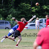 Portsmouth's Aidan Moore reaches for a pass during Saturday's 7v7 Under Armour Football Tournament vs Methuen MA on 7-16-2016 @ Exeter High School.  Matt Parker Photos