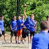Winnacunnet's Quarterback Pat MacDougall throws a pass during Saturday's 7v7 Under Armour Football Tournament vs Bedford MA on 7-16-2016 @ Exeter High School.  Matt Parker Photos