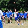Winnacunnet's Tyler Hoar reaches for a pass during Saturday's 7v7 Under Armour Football Tournament vs Bedford MA on 7-16-2016 @ Exeter High School.  Matt Parker Photos