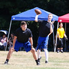 Epping-Newmarket's Quarterback throws a pass during Saturday's 7v7 Under Armour Football Tournament between Epping-Newmarket and Bow HS on 7-16-2016 @ Exeter High School.  Matt Parker Photos