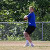 Winnacunnet's Quarterback Pat MacDougall looks downfield for an open player during Saturday's 7v7 Under Armour Football Tournament vs Bedford MA on 7-16-2016 @ Exeter High School.  Matt Parker Photos