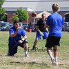 Winnacunnet's Center Ryan Hansen delivers the ball to Quarterback Pat MacDougall during Saturday's 7v7 Under Armour Football Tournament vs Bedford MA on 7-16-2016 @ Exeter High School.  Matt Parker Photos