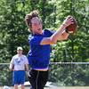 Winnacunnet's receiver Evan Welch makes a catch during Saturday's 7v7 Under Armour Football Tournament vs Bedford MA on 7-16-2016 @ Exeter High School.  Matt Parker Photos
