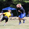 Epping-Newmarket's Cody Fetter makes a move to evade a Bow player after making a catch during Saturday's 7v7 Under Armour Football Tournament between Epping-Newmarket and Bow HS on 7-16-2016 @ Exeter High School.  Matt Parker Photos