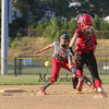 The throw to Hurricanes #66 Alicia Habib is off target allowing Slammers #2 Reese Assylin to make it to 2nd base during Friday's pool play between the Seacoast Hurricanes and the Rochester Slammers at the Brawl at the Beach Girls U12 Softball Tournament on 7-22-2016 @ Winnacunnet High School, Hampton, NH.  Matt Parker Photos
