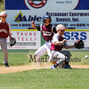 Goffstown's runner #9 Ryan Strand makes it to 2nd base while Portsmouth's #00 Timmy Avery keeps his his eye on the ball during Saturday's U9-10 NH Little League State Finals between Portsmouth and Goffstown at Grappone Park, Concord, NH on 7-23-2016.  Matt Parker Photos