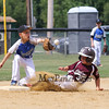 Hudson's #22 Mikey Bebris slide into 2nd is called safe when the throw to Seacoast's #17 James Enright  arrived late at Saturday's 2016 NH Cal Ripken League 8 Year Old State Tournament Championships between Seacoast and Hudson on Saturday 7-30-2016 @ Roger Allen Park, Rochester, NH. Sea-7, Hud-9.  Matt Parker Photos