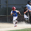 Seacoast's batter #24 Dylan Gaudet heads to 1st after getting a hit at Saturday's 2016 NH Cal Ripken League 8 Year Old State Tournament between Seacoast and Hudson on Saturday 7-30-2016 @ Roger Allen Park, Rochester, NH. Sea-7, Hud-9.  Matt Parker Photos