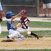 Seacoast's #17 James Enright is tagged out by Hudson's #22 Mikey Bebris as his steal of 2nd base is unsuccessful at Saturday's 2016 NH Cal Ripken League 8 Year Old State Tournament Championships between Seacoast and Hudson on Saturday 7-30-2016 @ Roger Allen Park, Rochester, NH. Sea-7, Hud-9.  Matt Parker Photos