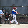 Seacoast's batter #24 Dylan Gaudet connects with the ball for a hit at Saturday's 2016 NH Cal Ripken League 8 Year Old State Tournament between Seacoast and Hudson on Saturday 7-30-2016 @ Roger Allen Park, Rochester, NH. Sea-7, Hud-9.  Matt Parker Photos