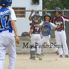 Seacoast's #23 Justin Coates crosses home plate for a Seacoast run late in the game at Saturday's 2016 NH Cal Ripken League 8 Year Old State Tournament Championships between Seacoast and Hudson on Saturday 7-30-2016 @ Roger Allen Park, Rochester, NH. Sea-7, Hud-9.  Matt Parker Photos