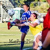 Winnacunnet's Goal Keeper Emily Parks is able to deflect the ball on a corner kick with Salem's #12 Taylor Rutstein getting her foot on the ball during Tuesday's NHIAA DIV I Girls Soccer game between Winnacunnet and Salem High Schools on 9-13-2016 @ WHS.  Matt Parker Photos