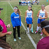 JV Coach Jennifer Roy and Captains at the start of the JV game at Winnacunnet Girls Field Hockey vs Timberline High School on Wednesday 9-14-2016 @ WHS.  Matt Parker Photos