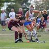 Winnacunnet's #4 Courtney Ingham and Timberlane's #3 Em Lisi look to control the ball during Wednesday's NHIAA DIV I Girls Field Hockey between Winnacunnet and Timberlane High Schools on 9-14-2016 @ WHS.  Matt Parker Photos