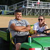 "Seth Provencher and Athletic Trainer Mikaela Harding in the, ""Gator"" at Winnacunnet Girls Field Hockey vs Timberline High School on Wednesday 9-14-2016 @ WHS.  Matt Parker Photos"
