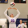 Winnacunnet's #10 Sarah Taylor sets the ball setting up a kill during Tuesday's NHIAA DIV I Girls Volleyball game between Winnacunnet and Timberlane High Schools on 9-14-2016 @ WHS.  Matt Parker Photos