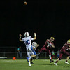 Portsmouth's QB #9 Cody Graham throws a pass during Friday's NHIAA DIV I Football game between Winnacunnet and Portsmouth High Schools on 9-16-2016.  Matt Parker Photos