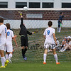"""Winnacunnet's Goal Keeper Dominic Stiles leaps to, """"punch"""" the ball over the bar making a save during Friday's NHIAA DIV I Boy Soccer game between Winnacunnet and Exeter High Schools on 9-23-2016 @ WHS.  Matt Parker  Photos"""