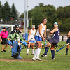 Winnacunnet's #10 Dana Sher and Exeter's Goal Keeper Kate Pigsley watch the ball as it goes wide at Friday's NHIAA DIV 1 Girls Field Hockey game between Winnacunnet and Exeter High Schools on 9-23-2016 @ WHS.  Matt Parker Photos