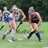Exeter's #34 Bri Petruccelli defends against Winnacunnet's #12 Lauren Alkire during Friday's NHIAA DIV 1 Girls Field Hockey game between Winnacunnet and Exeter High Schools on 9-23-2016 @ WHS.  Matt Parker Photos