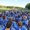 Rams Coach Joe Ratterty talks with his players after their win at Saturday's Campbell Conference Football game between York and Kennebunk High School on 9-24-2016 @ Kennebunk, ME.  Matt Parker Photos