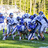 Rams #19 Garrett Philbrick and #60 Charlie Vermette tackle Wildcats #21 Spencer Thorne at Saturday's Campbell Conference Football game between York and Kennebunk High School on 9-24-2016 @ Kennebunk, ME.  Matt Parker Photos
