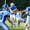 Rams RB #29 Nolan Ragnarsson finds an opening running the ball for a Kennebunk touchdown at Saturday's Campbell Conference Football game between York and Kennebunk High School on 9-24-2016 @ Kennebunk, ME.  Matt Parker Photos